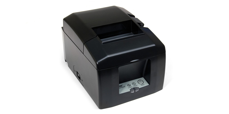 Loading paper into a Star Micronics thermal printer - YouTube